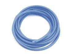 Dampfschlauch blau, Silicon mit Siliconmantel