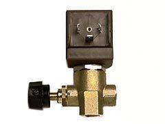 """Magnetventil Ceme 9934 1/4"""", Ø 2,8mm, Eck, mit Knebel zur Dampfregulierung"""
